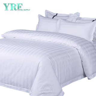 300 draad tellen Striped White Cotton Hotel Hotel Bedding kingsize bed